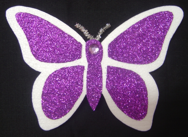 polystyrene--butterfly