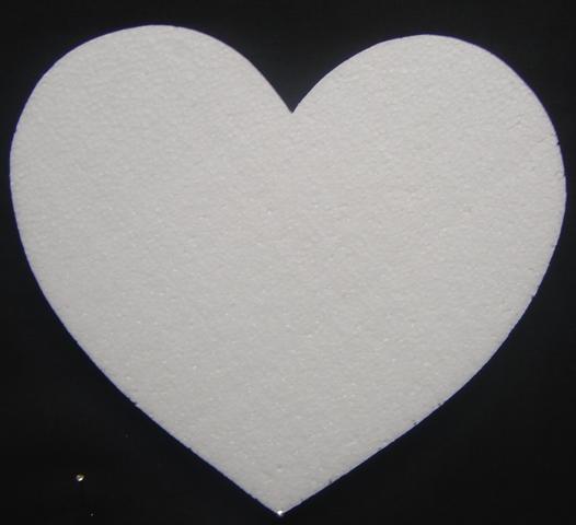 polystyrene--heart