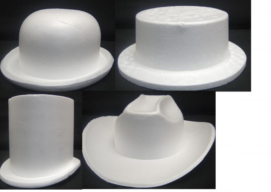 polystyrene--hats