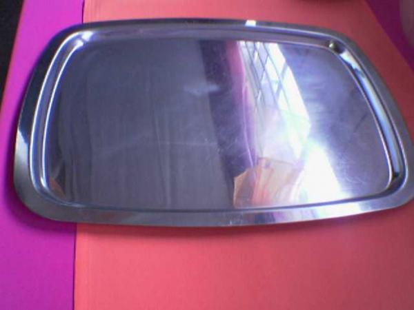 platter--rectangular--stainless-steel