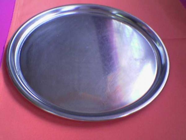 platter--round--stainless-steel